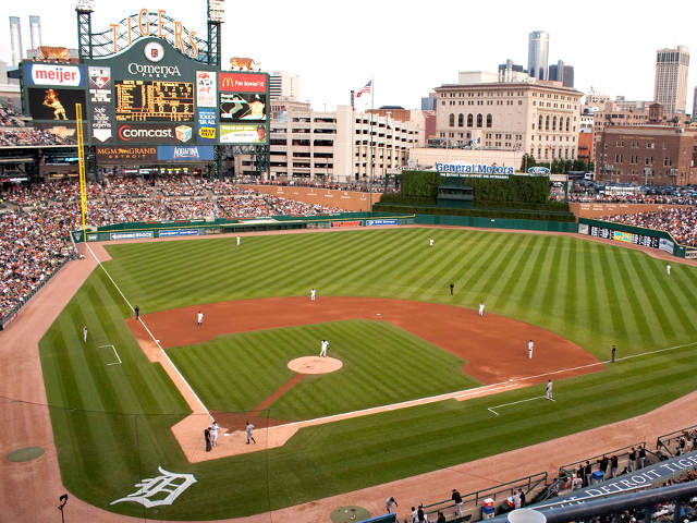 Comerica Park View of Field