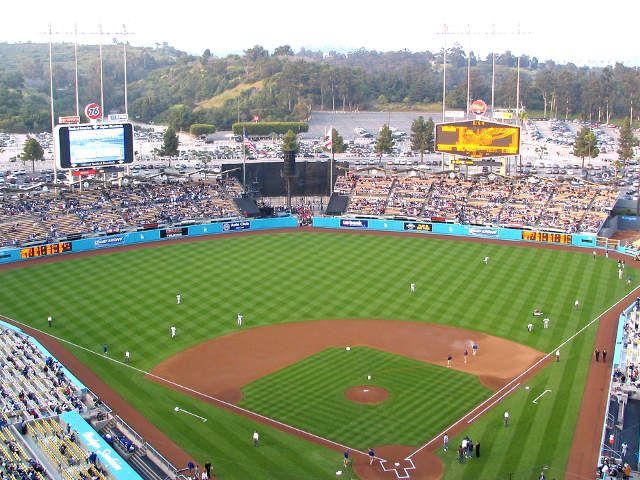 Dodger Stadium View of Field