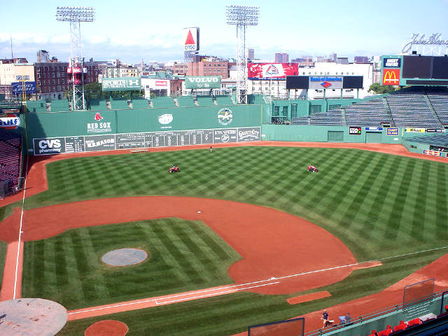 Fenway Park View of Field