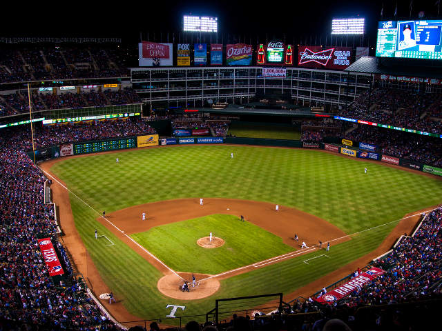 Rangers Ballpark in Arlington View of Field
